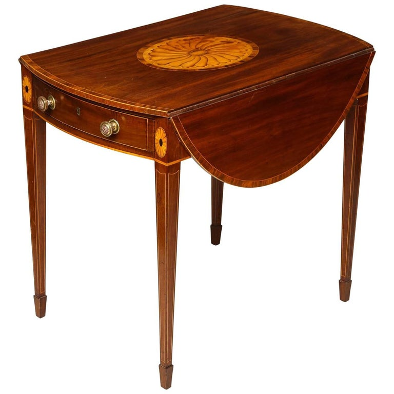 Georgian Inlaid Mahogany Pembroke Table