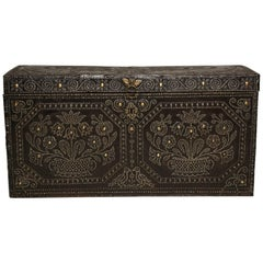 Profusely Studded Royal Leather Trunk