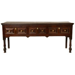 Fine Welsh 17th c. Three Drawer Server