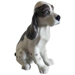 Lyngby Porcelain Figurine of Sitting Dog #85
