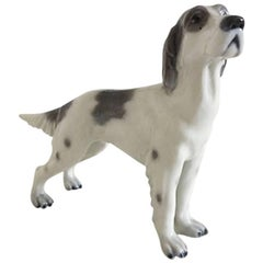 Lyngby Porcelain Figurine English Setter #89, Grey