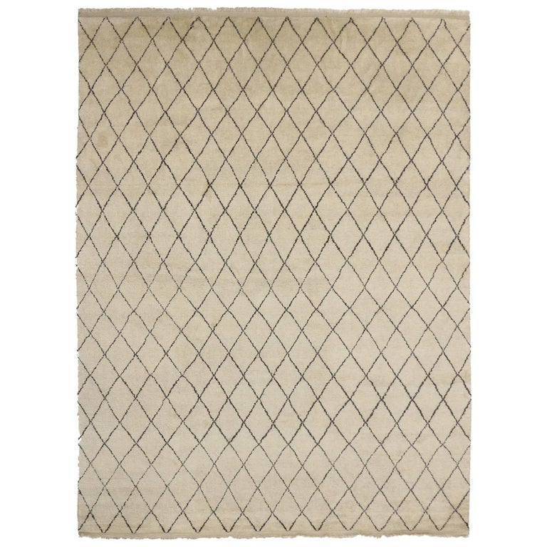 Contemporary Moroccan Area Rug with Modern Design