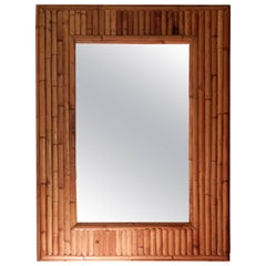 Midcentury Ficks & Reed Bamboo Wall Mirror