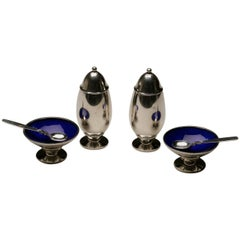 """Georg Jensen Sterling Silver """"Cactus"""" Table Suite, No. 629"""