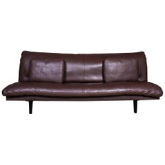 De Sede Chocolate Brown Leather Sofa or Daybed, Model DS 169