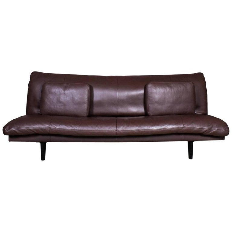 De Sede Chocolate Brown Leather Sofa or Daybed, Model DS 169 For Sale