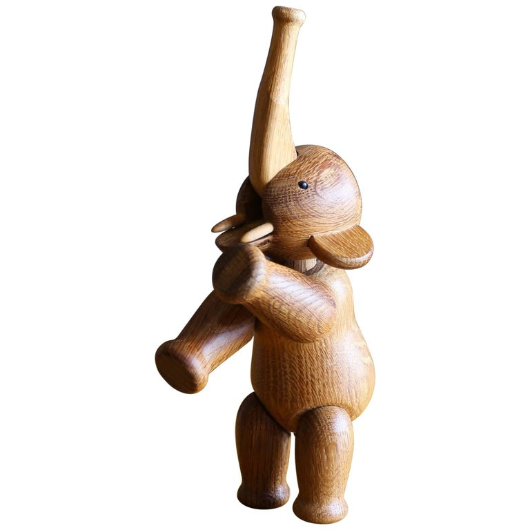 Early Kay Bojesen Oak Elephant