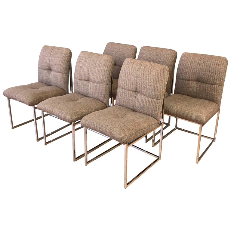 Milo Baughman for Thayer Coggin Set of Six Dining Chairs For Sale