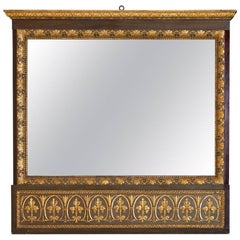 Tuscan Neoclassical Carved Mirror, Early 19th Century