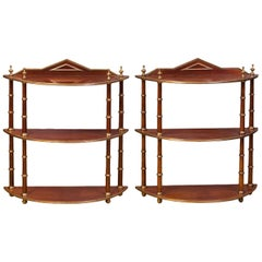Nice Pair of Hanging Shelves Baltics, Mid-19th Century