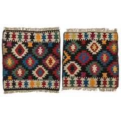 Vintage Little Kilims Azeri or Shahsavan, Pair