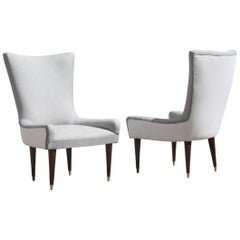 Pair of Design Chairs Italian, Chic and Modern Design 1950s Made in Italy
