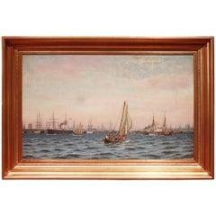 Marine Painting, Copenhagen by Johan Neumann