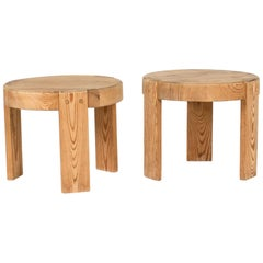 Pair of Swedish Miniature Pine Stools