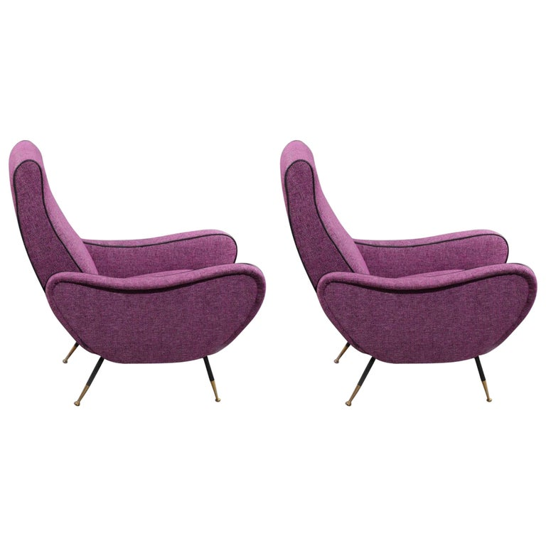 Two Lady Chairs Attributed Marco Zanuso, Italy, 1950