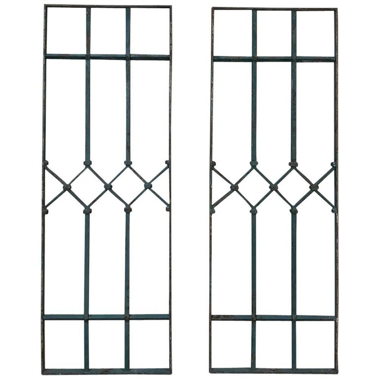 Pair of Antique Wrought Iron Panels