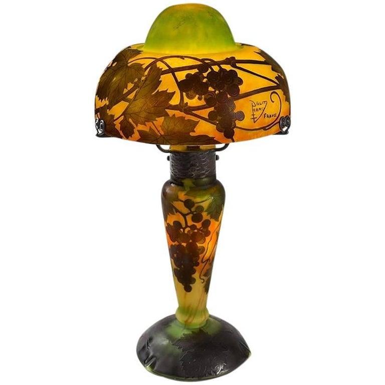 """French Art Nouveau """"Grape Vine"""" Desk Lamp by Daum"""