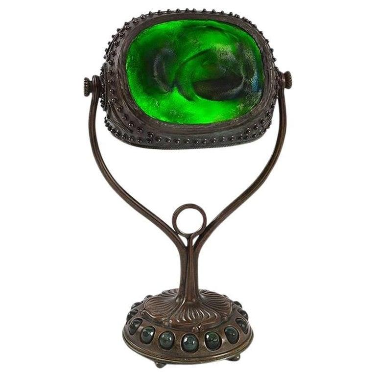 """Tiffany Studios New York """"Turtleback Tile"""" Desk Lamp"""