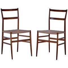 Superleggera Chairs by Gio Ponti Prod Cassina, circa 1955