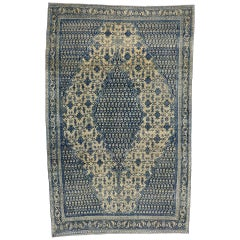 Antique Persian Malayer Rug with French Country Style