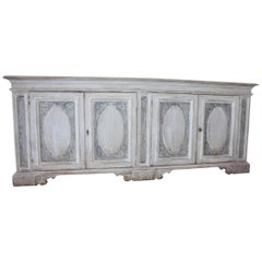 Impressive Painted Italian Buffet, Credenza or Sideboard