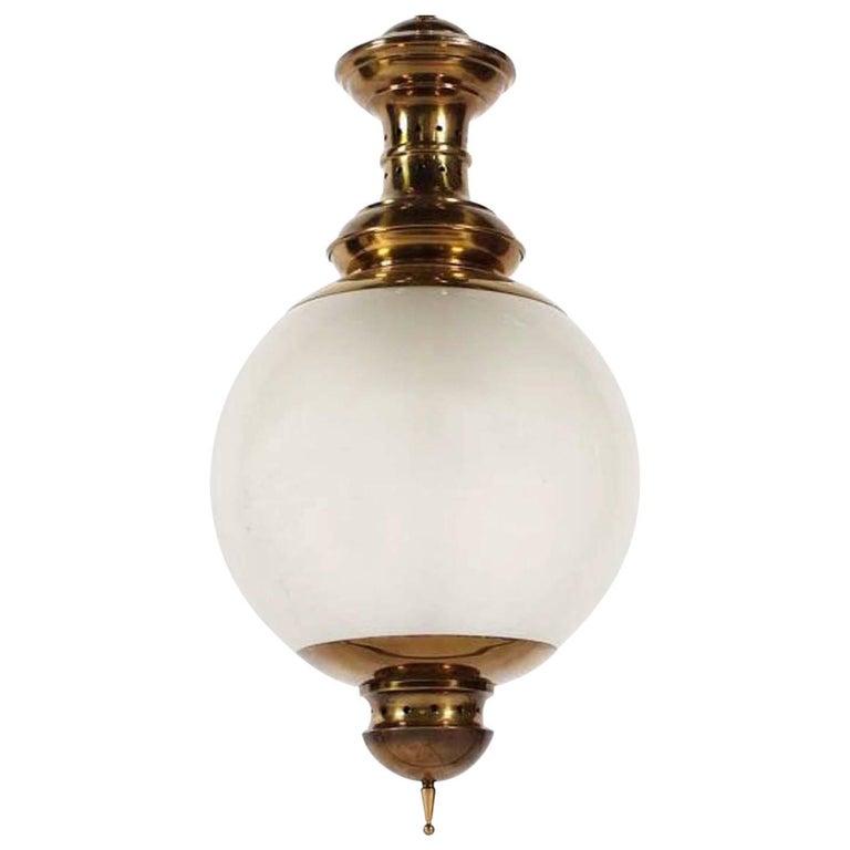 """LS1"" Caccia Dominioni by Azucena Italian Design Midcentury Brass Ceiling Lamp"