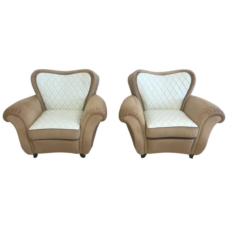 Superb Art Deco Pair of Armchairs, 1940s