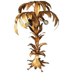 Hans Kogl Gilt Palm Tree Lamp, 1970s