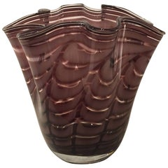 Vintage Violet Colored Murano Glass Vase