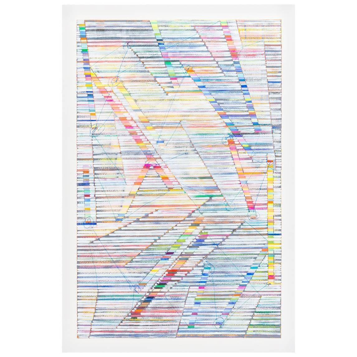 """""""Color Sticks"""", Original Contemporary Mixed Media Painting"""