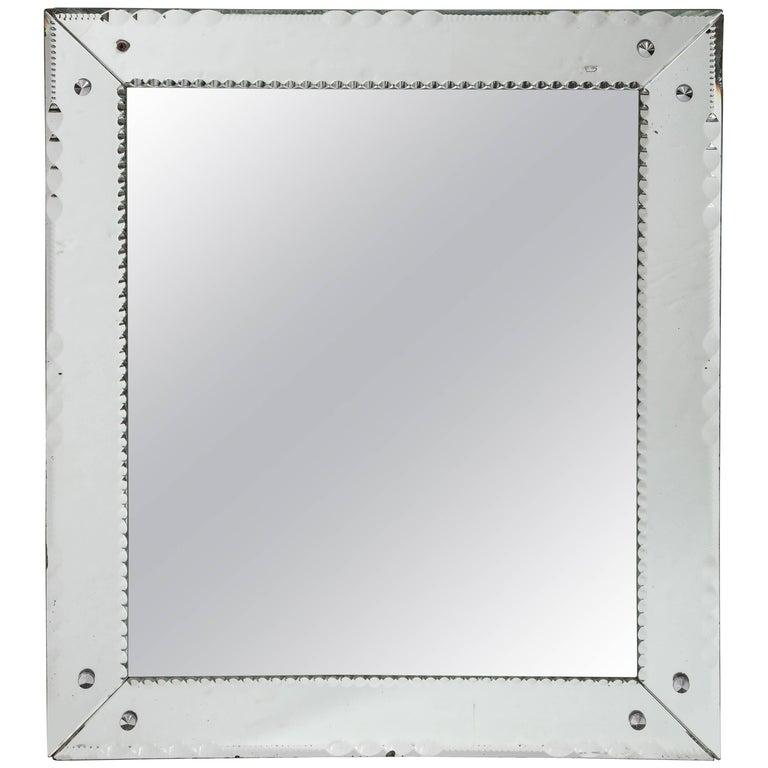 French Deco Beveled Mirror