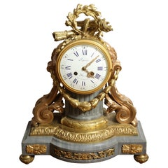 19th Century Bleu Tarquin and Ormolu Mantle Clock