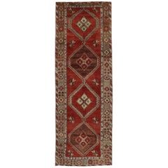 Vintage Turkish Oushak Runner with Traditional Modern Style, Wide Hallway Runner