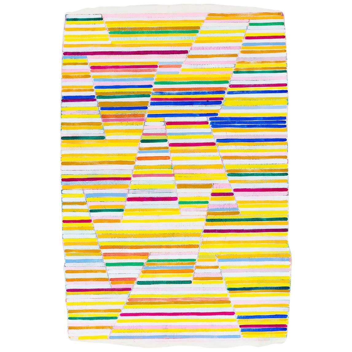 """Canary"" Contemporary Art, Original Mixed-Media Painting"