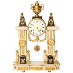 Louis XVI Style Ormolu-Mounted Portico Clock