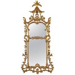22-Karat Gold Gilt Chippendale Style Frame