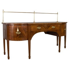 Large Antique Sideboard, English Regency, Server, Mahogany, Sheraton, circa 1820