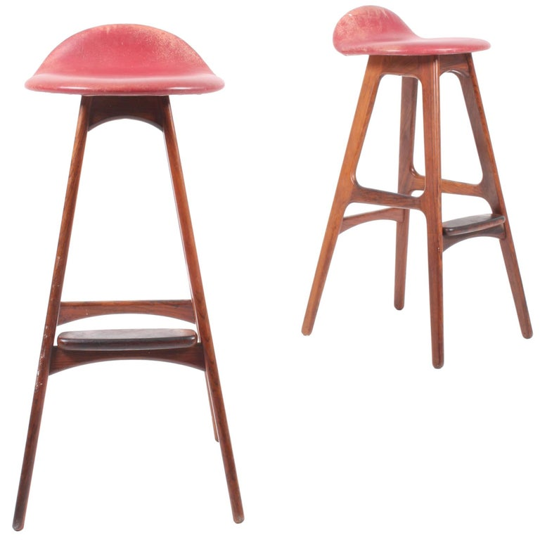 Pair of Bar Stools by Erik Buch
