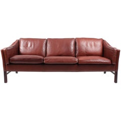 Sofa in Patinated Leather by Grant