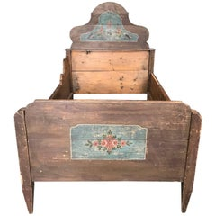 Antique European Painted Children's Bed