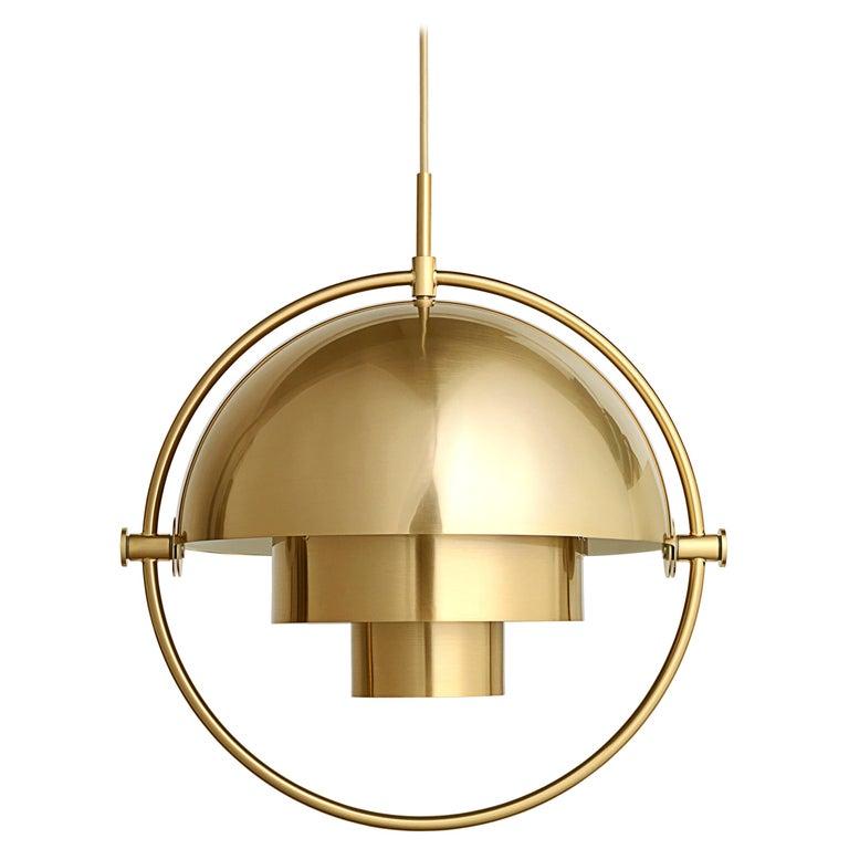 Louis Weisdorf 'Multi-Lite' Pendant Lamp in Brass For Sale