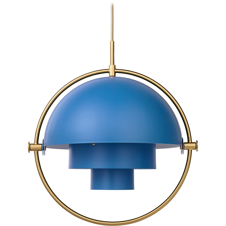 Louis Weisdorf 'Multi-Lite' Pendant Lamp in Blue