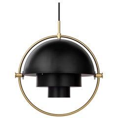Louis Weisdorf 'Multi-Lite' Pendant Lamp in Black / Brass