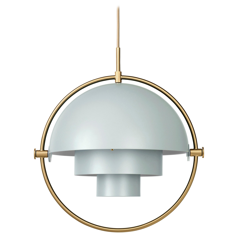 Louis Weisdorf 'Multi-Lite' Pendant Lamp in Sea Gray