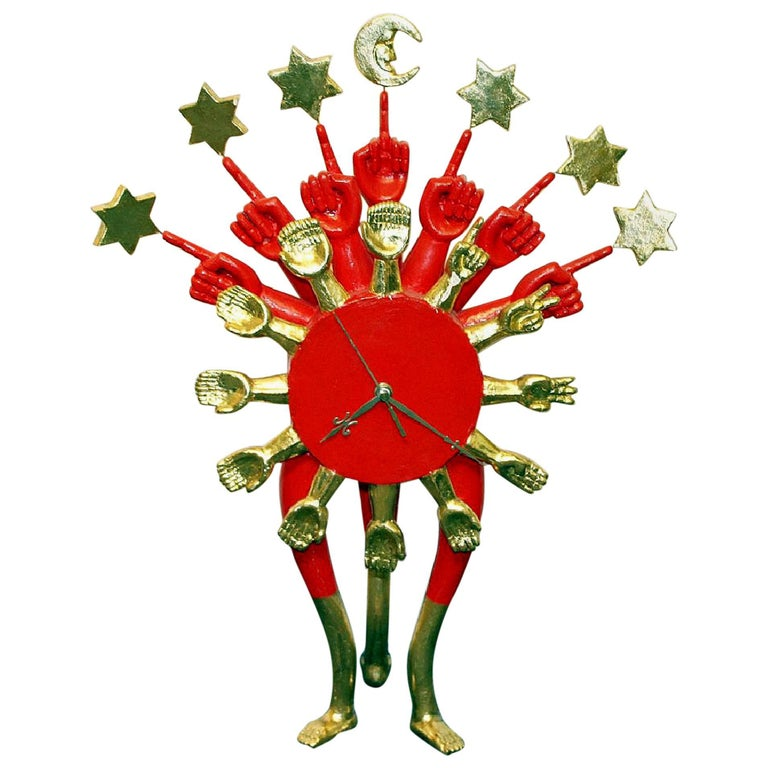 Surrealistic Sculptural Clock by Pedro Friedeberg For Sale