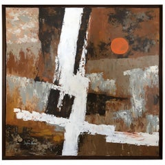 Powerful Earthy Abstract Oil Painting by Stephen Kaye