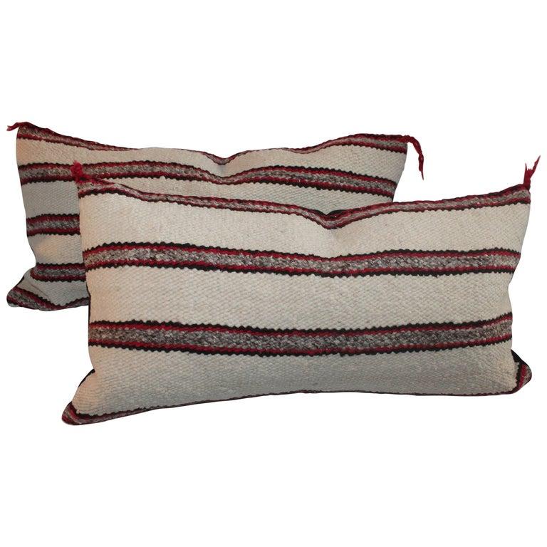 Navajo Indian Weaving Saddle Blanket Pillows