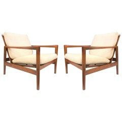 Pair of Ib Kofod-Larsen Teak Lounge Chairs