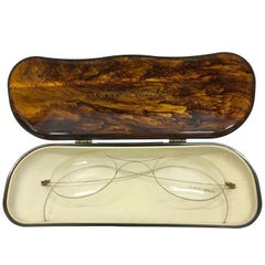 Vintage Armani Glasses Display in Tortoise shell Case