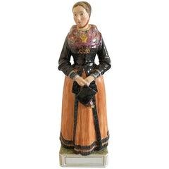 Royal Copenhagen Over-Glaze Figurine #12101 Church-Going Costume, Amager